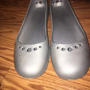 Gray Crocs